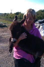 Liz and donkey